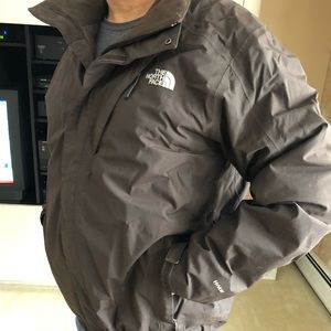 Men's NORTHFACE Hyvent Brown Jacket Coat XL
